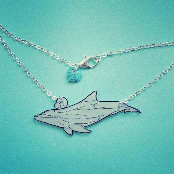Dolphin necklace. Bottlenose dolphin by KatieElizabethONeil