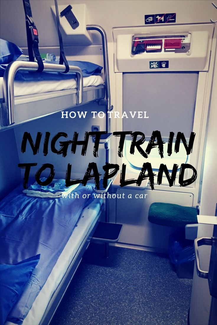 It is so easy to travel to Lapland using a night train. Take a car or come without.