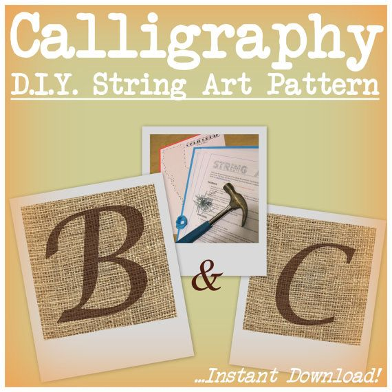 Heres what you do: 1. Buy the pattern, download & print 2. Tape the pattern to a board 3. Nail, String & Enjoy.  Been enjoying making patterns lately for all you DIYers out there! String Art Monograms are a great way to add some personalized decor to any room, and are great for people of all ages. Youve seen them on Pinterest, on popular blogs - now its your turn to make one. Use this pattern to skip the hard part & get to the good stuff!  My goal is to make a pattern for EVERY letter in…