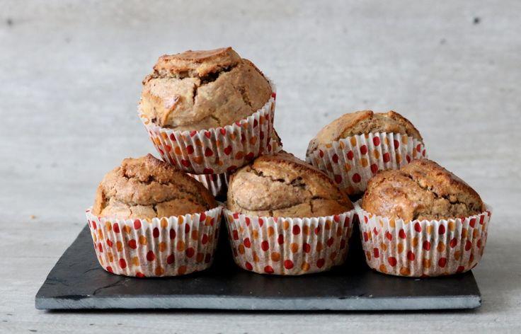 Vanille chocolade muffins: heerlijk, heb de roomkaas vervangen door Griekse yoghurt, minder vet en frisser..
