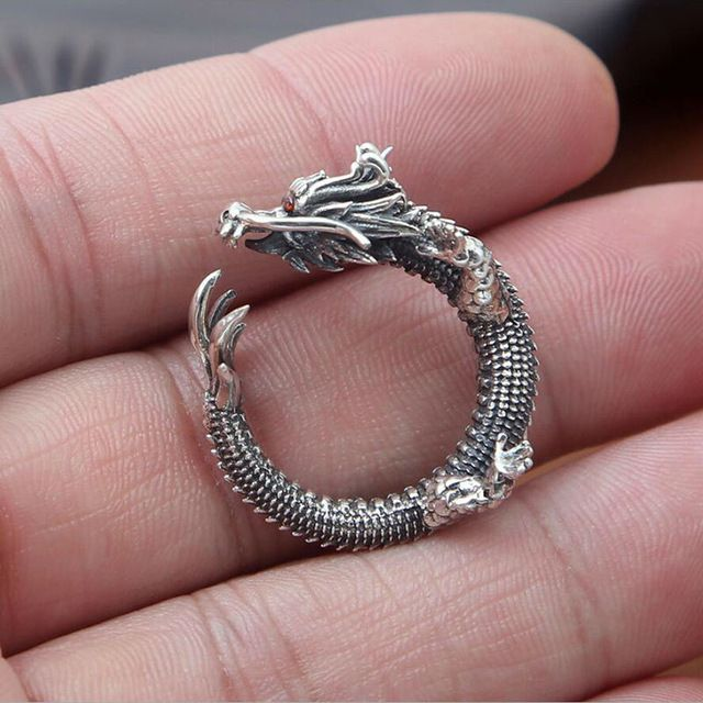 Creative trend domineering dragon opening 100% <b>925 sterling</b> ...