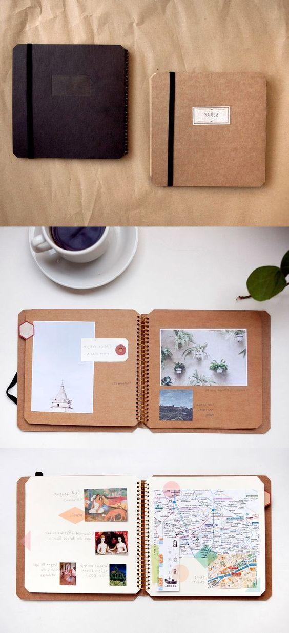 un petit carnet de voyage customisé, photos, ecriture, tickets de transport et carge géographique, activité manuelle adulte, scrapbooking, idée créative