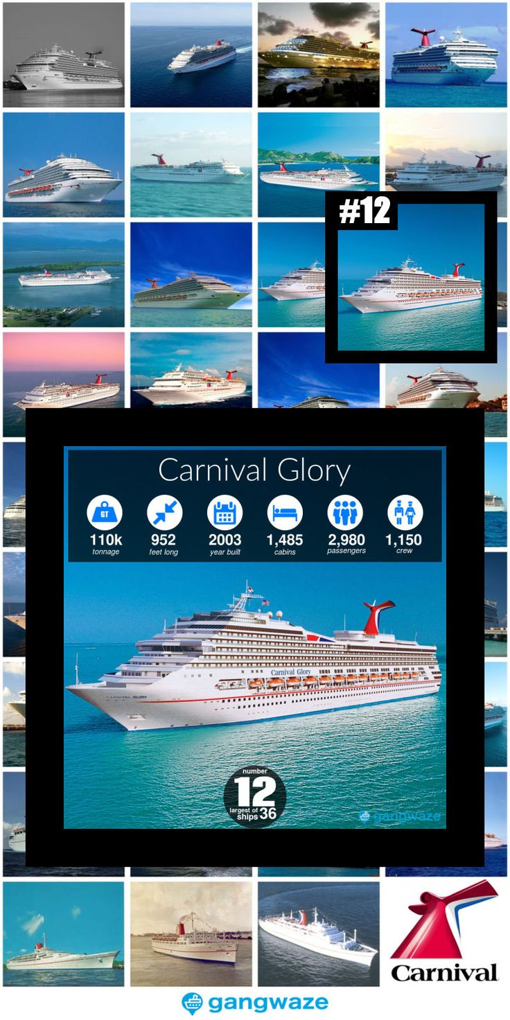 Carnival Ships by Size 2020 with Comparison Chart in ...