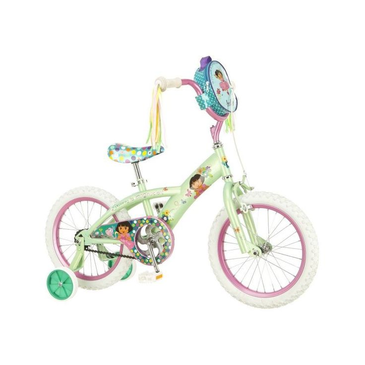 "Pacific Cycle R7619 Dora The Explorer 16"" Girls Bike in Yellow/Pink"