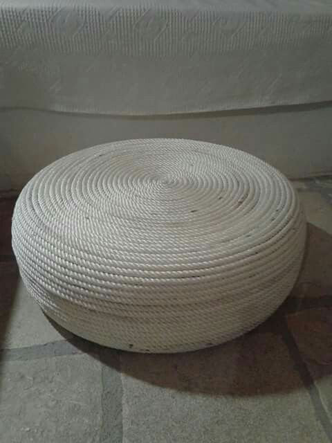 Ottoman coffee table from nautical rope..⛵