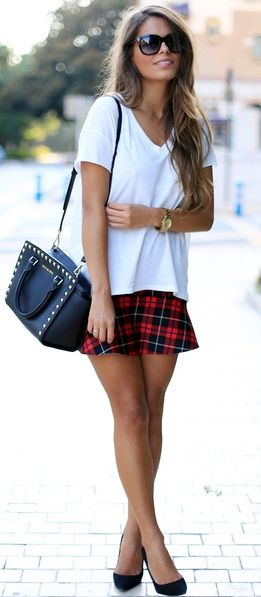 This I can do! My IHA skirt comes in handy with a white tee and black pumps... simple.