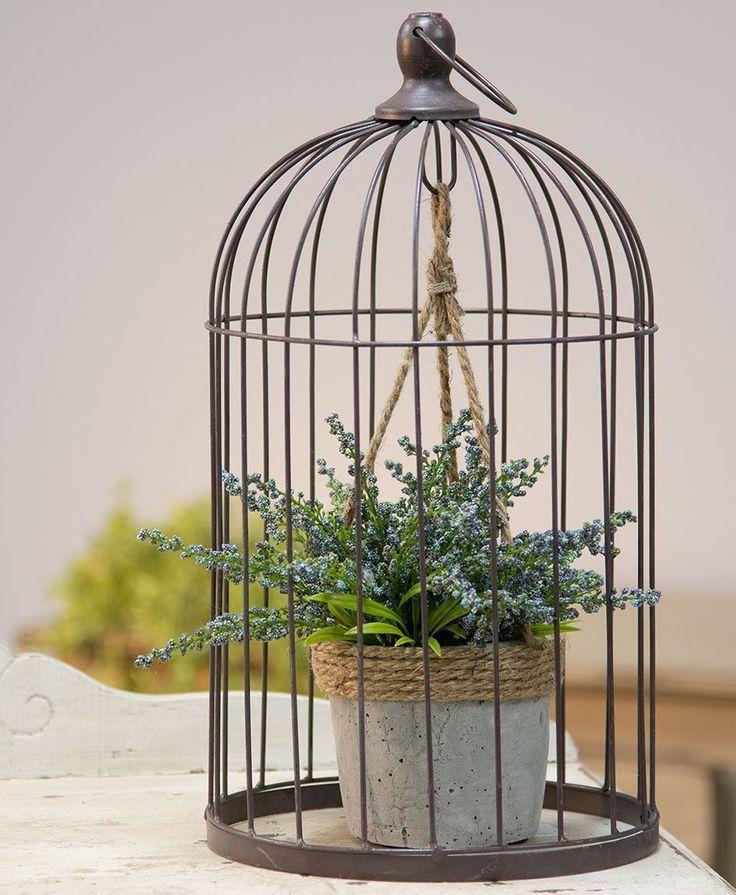 Jaula De Pajaros De Alambre Grande Con Soporte De Planta De Cemento Vogelkooi Decoratie Vogelkooi Vogelhuisje