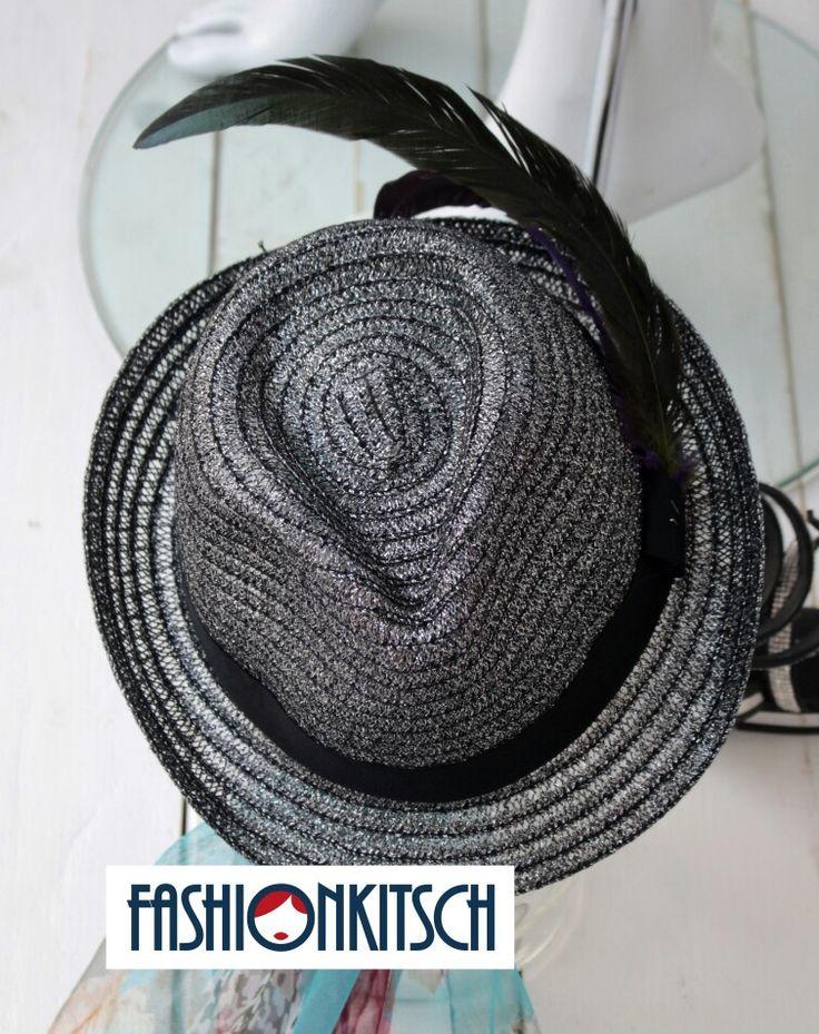 Cappello Fedora nero silver, € 19.00