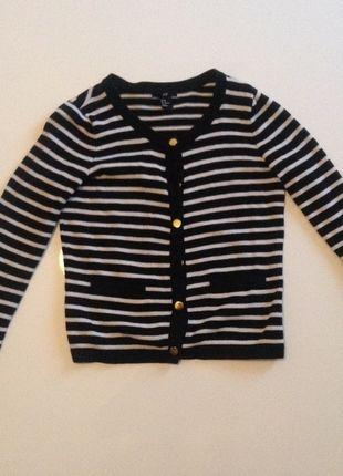 Kup mój przedmiot na #vintedpl http://www.vinted.pl/damska-odziez/marynarki-zakiety-blezery/9622876-sweterek-paski-hm-marynarski-zlote-guziczki