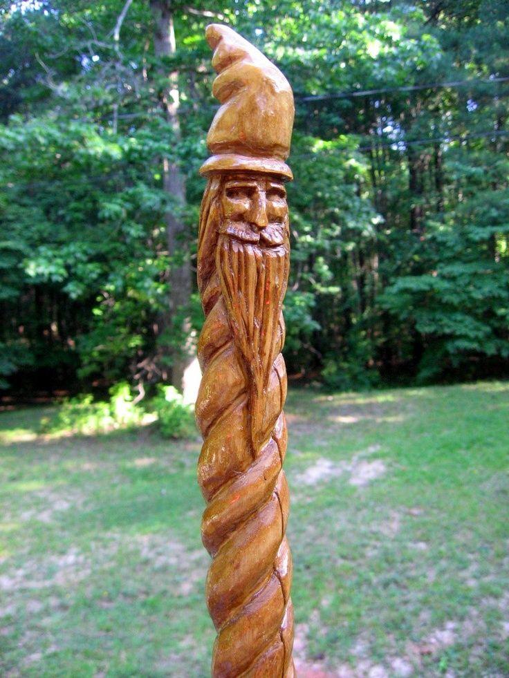 Carved walking stick.....