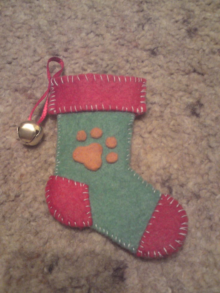 A tiny Christmas Stocking i made for my kitty, George