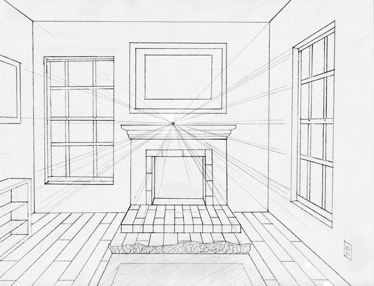 One Point Perspective Drawing A Room Perspective Room One Point Perspective Room One Point Perspective
