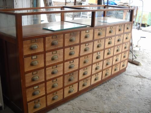 """""""Here is one example of my ideal storage cabinet. (Clock-makers cabinet). Notice the glass top for displaying collectibles, etc. Would be so much fun to display old antique scissors, etc, inside."""""""
