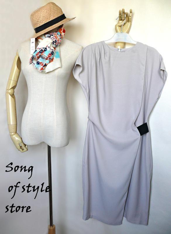 Asos платье-карандаш с драпировкой и эластичной деталью5