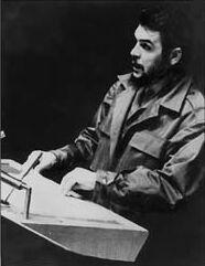 Foto del Che en Naciones Unidas