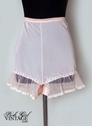 8904b338747 Pink Luxite panties with sheer ruffles