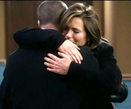 Ohhh...The RARE time when Olivia breaks down, Elliot is so tender and loving to her. It makes me so happy. (: <3