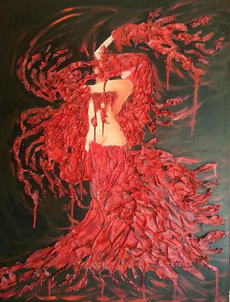 Gallerymak.com - 4.500 TL / 1.500 USD  Ateşle Oynayan Kadın by Gülbin Nurgenç - Tuval üzerine Karışık Teknik - 60x90 Women Who Plays With Fire by Gulbin Nurgenc - Mixed Media on Canvas - 60x90  #gallerymak #sanat #resim #sanateseri #yağlıboya #ressam #sanatsal #sergi #tasarim #tasarım #dekor #cagdassanat #modernsanat #artlovers #evdekorasyon #içtasarım #stil #dizayn
