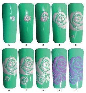 Дизайн маникюра с бархатной розой « Мастера и мастер-классы « новости ≈ NОГТИКИ.com | всё о ногтях и для ногтей