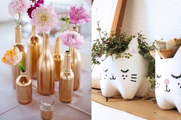 17 melhores ideias sobre Flores De Zíper no Pinterest  Flor de fita, Flores  -> Banheiro Decorado Com Objetos Reciclados