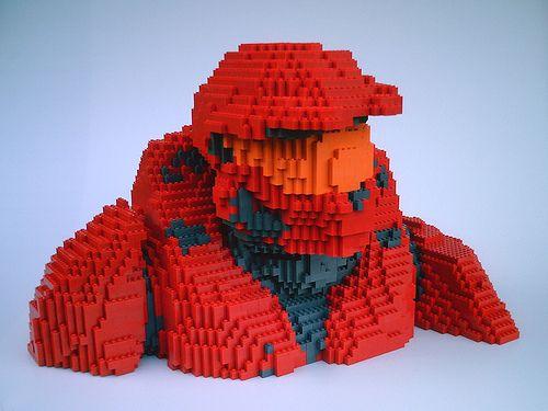 LEGO Halo RvB Sarge - front by dm_meister, via Flickr