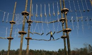 Groupon - Two-Hour High-Ropes Course for One or Four at Kersey Valley High Ropes Course (Up to 49% Off) in Jamestown. Groupon deal price: $32