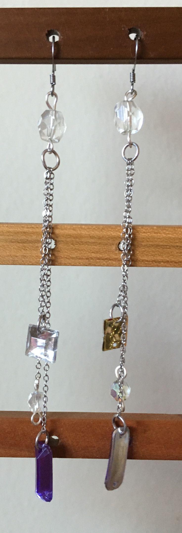 Long dainty earrings by MaxAna x