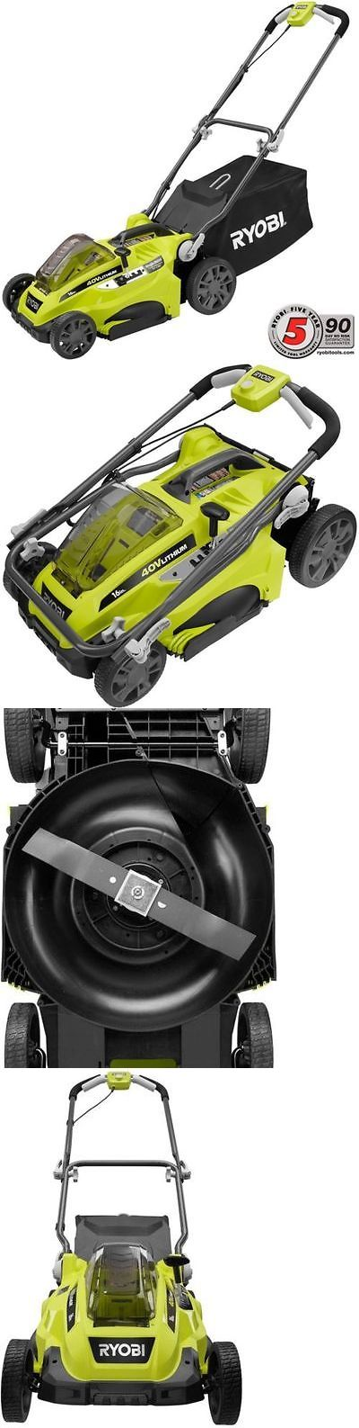 Walk-Behind Mowers 71272: Ryobi Push Lawn Mower Cordless Walk Behind 40-Volt 16 In. - Battery Not Included -> BUY IT NOW ONLY: $207.51 on eBay!