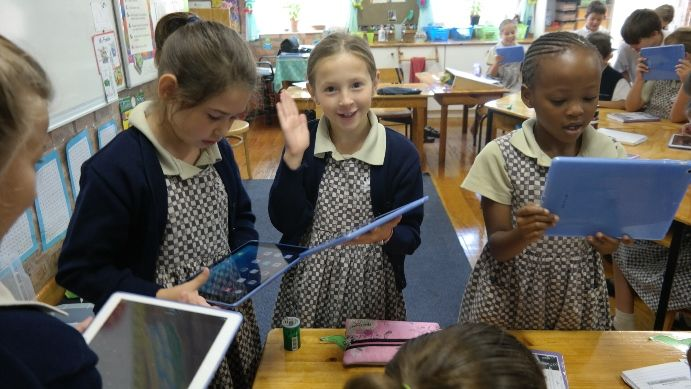 In 3, 2, 1….. Blast off to success! After a busy term of setting up the iPads, Grade 3 pupils finally had a chance to integrate iPads in their class lessons.