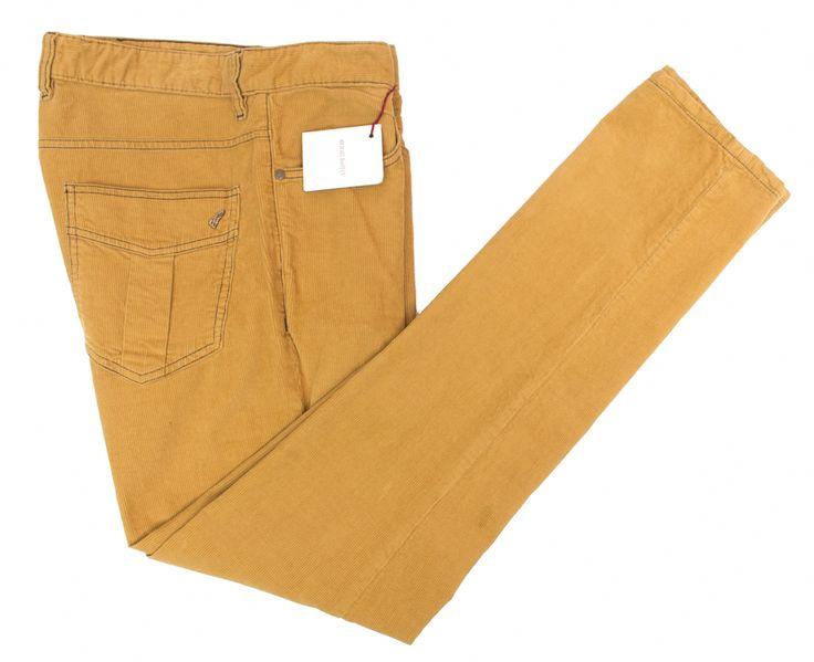MICHAEL BASTIAN Tan Cotton Corduroy Button Fly Classic Five Pocket Jeans  |  Go Shopping! http://www.frieschskys.com/bottoms/pants  |  #frieschskys #mensfashion #fashion #mensstyle #style #moda #menswear #dapper #stylish #MadeInItaly #Italy #couture #highfashion #designer #shopping