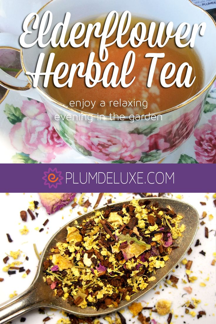 Organic, loose leaf hand-blended fair trade elderflower tea - with honeybush tea, lemon peel, and rose buds.  Delightful for a tea party or just relaxing on your own.