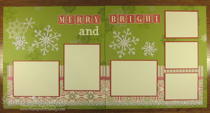 Stamp With Sandy: Merry and Bright Scrapbook Pages, Spread, 12x12, Stampin Up