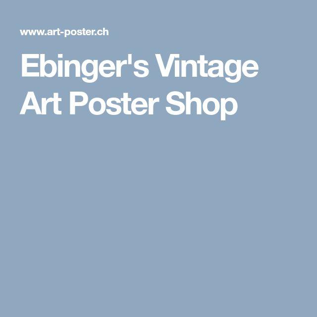 Ebinger's Vintage Art Poster Shop