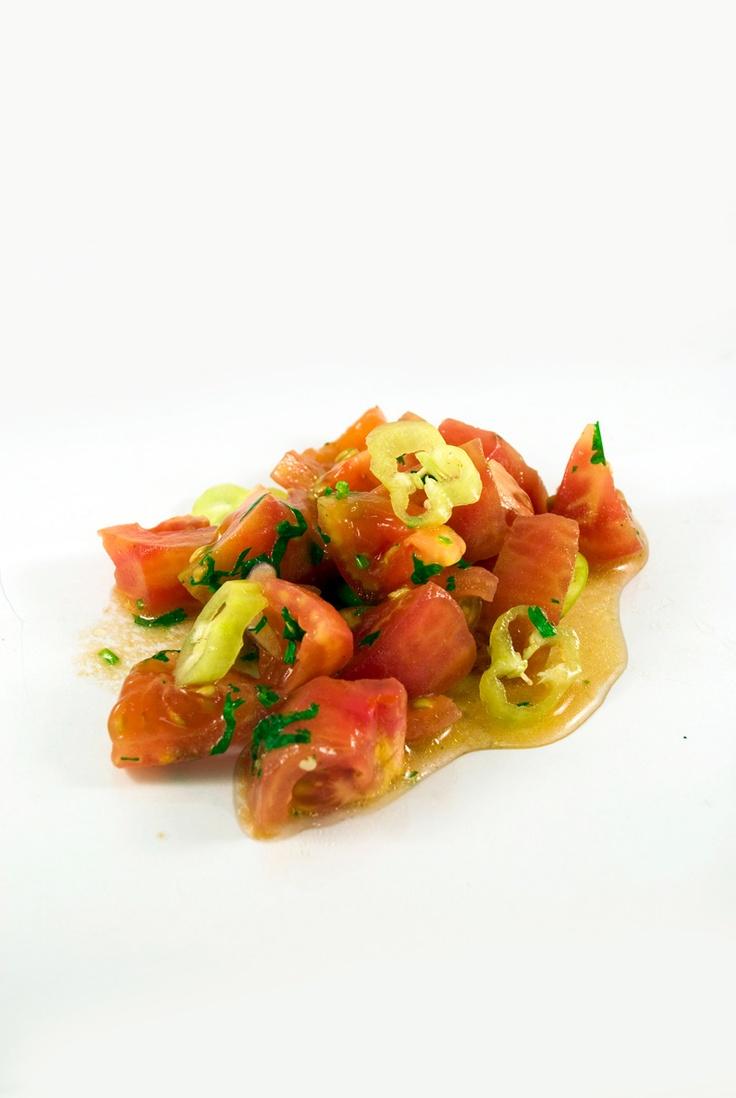 Tomate con Ají Verde