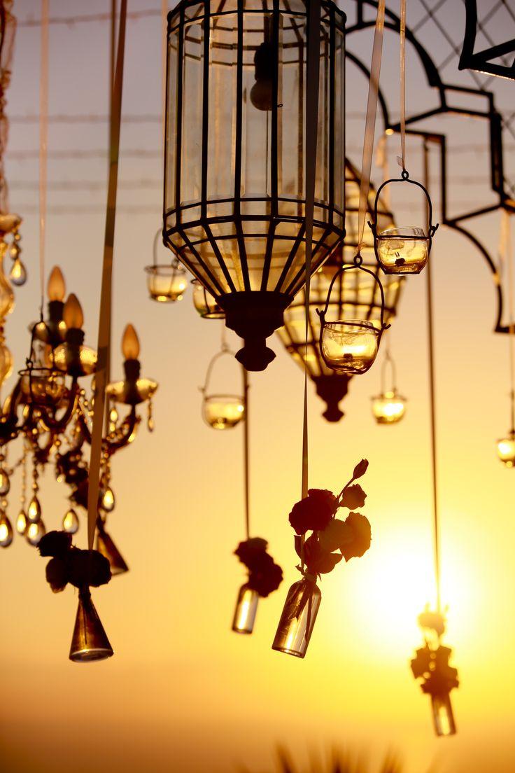 Dangling Flowers in dusk c by Tirtha Bridal Uluwatu Bali