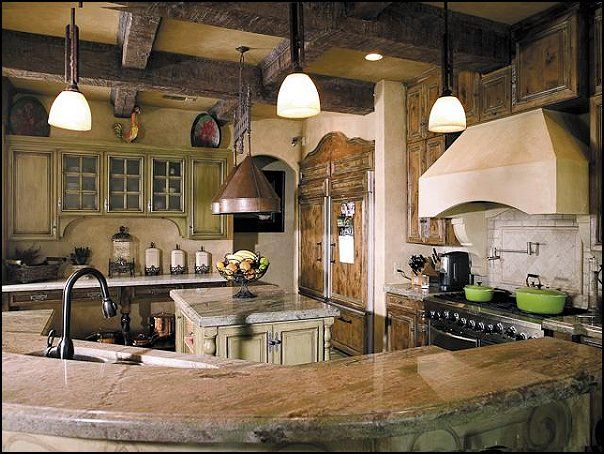 style rustic and refined | rustic+style+kitchens-tuscan ...