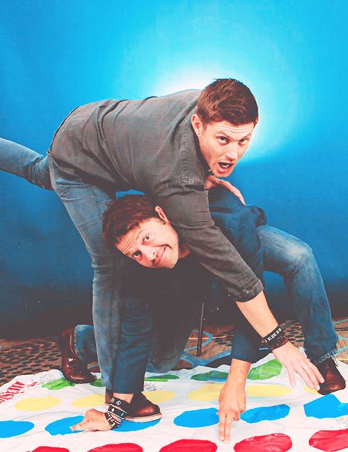 Cas did say that he wanted to play twister! So here's Dean keeping his promise! Haha!
