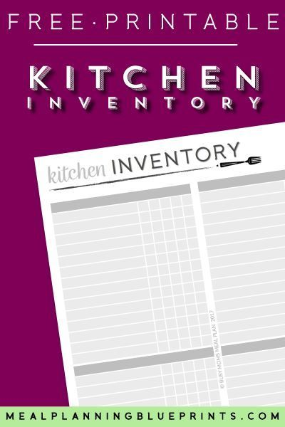 Organize your pantry once and for all! Keep this Kitchen Inventory Worksheet on your pantry, fridge, or freezer door and always know what you have on hand. Making dinner is easier when you have your pantry organized! #pantryorganization #kitcheninventory #freeprintable