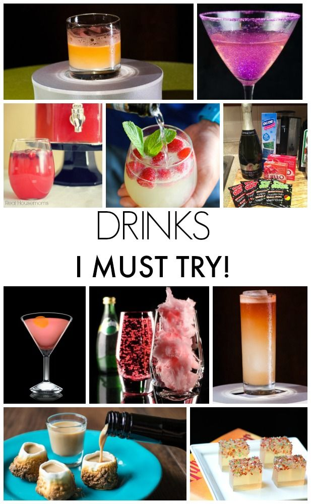 Drink recipes that I MUST try! Great drinks for New Year's Eve!