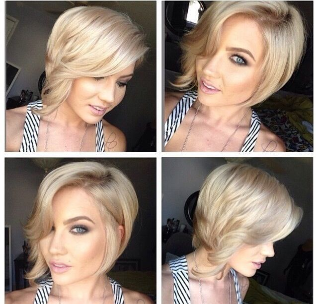 asymmetrical bob. In love with this style
