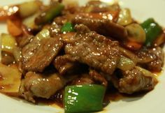 Ternera con salsa picante estilo chino
