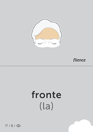 Fronte #CardFly #flience #human #italian #education #flashcard #language