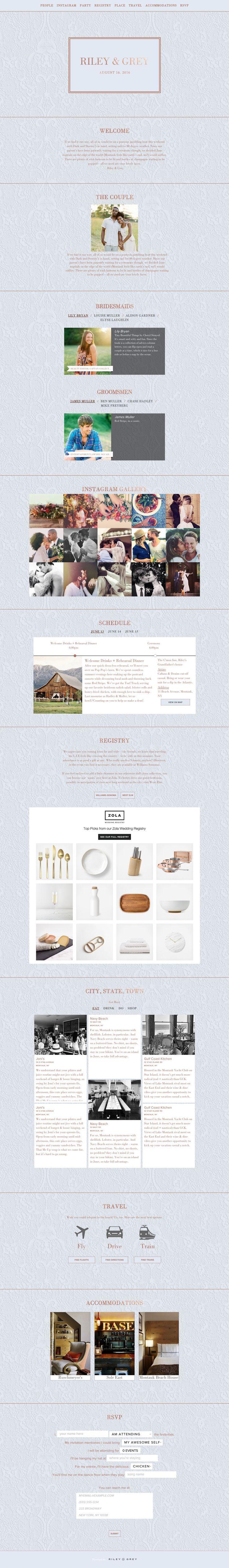 """Duchess"" robins egg blue wedding website design by Riley & Grey (graphic design, wedding planning, wedding website examples)"