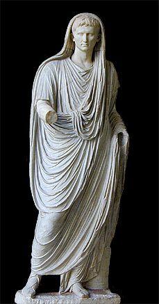 statue of Augustus as pontifex