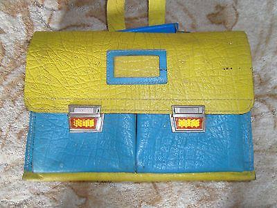 DDR Schulranzen blau gelb Ledertasche Tasche Leder Ranzen Mappe Schultasche in Sammeln & Seltenes, DDR & Ostalgie, DDR | eBay!