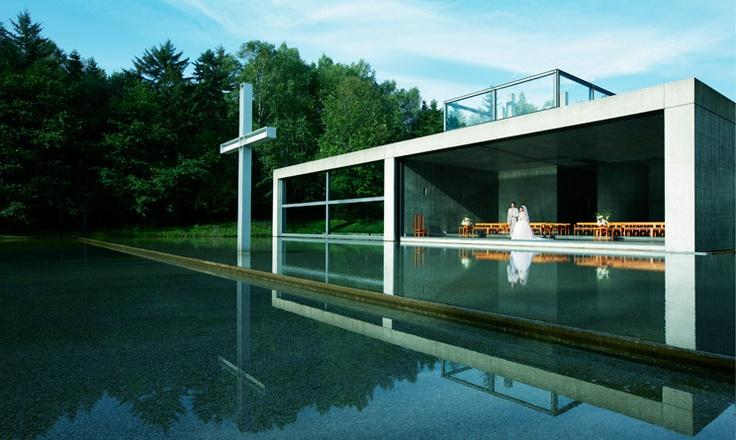 """""""Chapel on the water"""" of Tomamu Hoshino Resort in Hokkaido, Japan"""