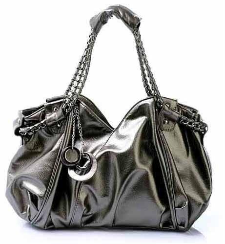 Metallic hobo purse