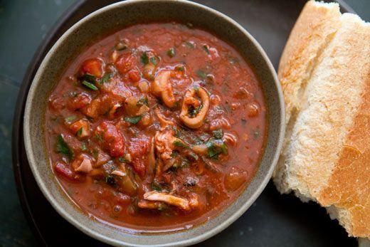 Calamari Stewed with Tomatoes | Recipe