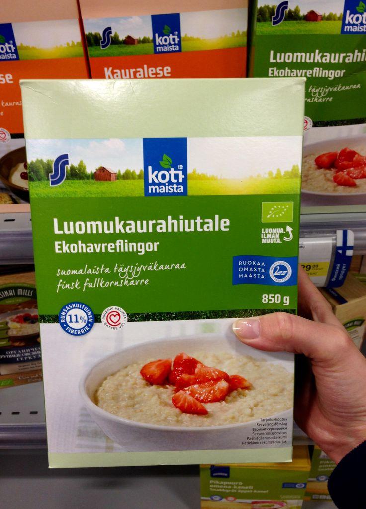 Овсяная каша из Финляндии с органик-маркировкой «Евролист». Кстати, luomu в переводе с финского означает «органический».