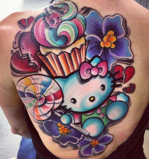 Candy Hello Kitty tattoo